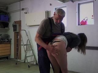 Cutie School Girl Fucking Old Teacher Blowjob swallow
