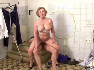 Horny Granny Getting Fucked Hard