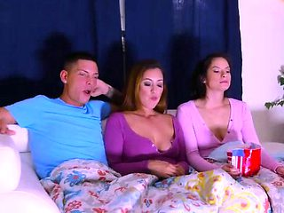 Alex Deen fucked by stepmom and bf