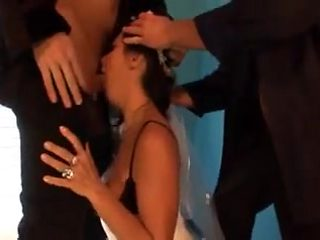 Crazy Cheating Romanian Bride Gets Face Fucked by Two Guys