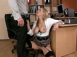 Awesome girl with huge titties Tanya Tate left her student after the classes and invited him in h...
