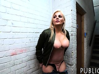 Czech babe agrees to flash her big boobs and have sex