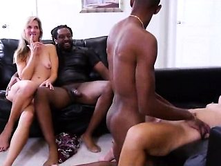 Interracial Group Sex