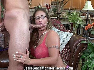 Eva Notty Gets Her Face Covered In Cum