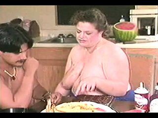 Chubby and horny housewife seduces a hung guy to drill her aching slit