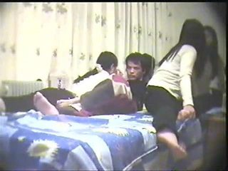 chinese amateur threesome - lucky guy - Part -1