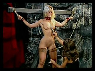 Hot blonde flogged on the ass until it turns red