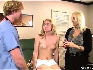 Teen Erica loves visiting the her handsome doctor for her