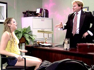 Jessie is a very cute girl and the businessman wants to screw her!