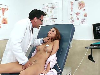 Horny doctor Marco Banderas teases and seduces hottie Monique Alexander into hard fucking with him