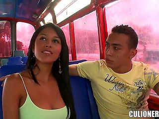 Adorable young innocent looking sexy girl Natasha with big juicy tits has fun and enjoys getting ...