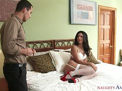 cheating latina wife having affair with muscled hunk