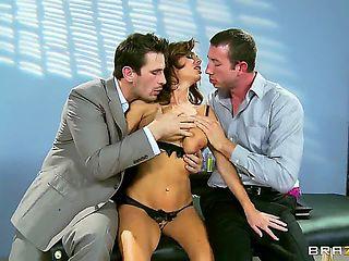 Great gangbang with Jordan Ash,Manuel Ferrara and Veronica Avluv, girls being banged in a fucking...
