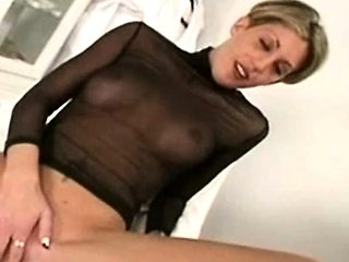 masseuse dildoing the ass