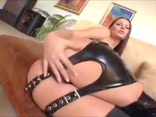 Claudia Leather Threesome