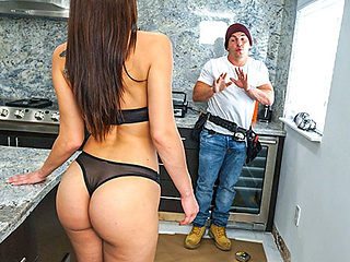 Aidra Fox in Aidra Fox Fucks Handy Man - Bangbros