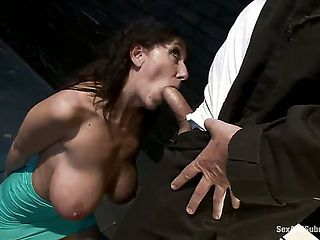 MILF with big tits is reduced to an object of desire when she tries to seduce a pissed off and pe...