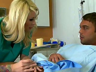 Every patient needs a blonde nurse like delicious Monique Alexander in this video. She is using h...