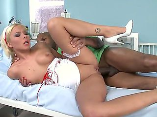 Extraordinary nurse Lisa has to exciting uniform and temperament for male patients