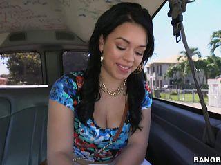 Dark haired latina Kimmy Kush is