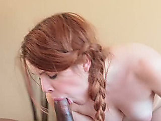 Dark brutal BF bonks pigtailed ginger slut in cowgirl and mish positions tough