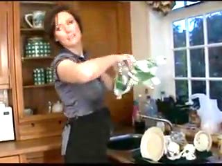 British Milf gets it in the kitchen
