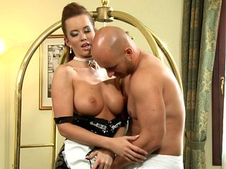 Sexy Maid Cindy Dollar allows her man to fuck her tight asshole