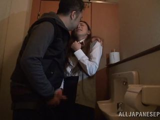hot slut gets fucked in the bathroom