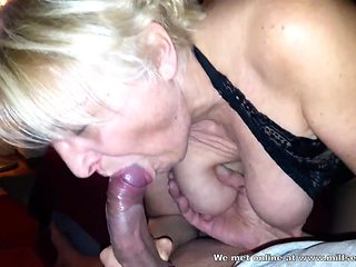 Horny blonde MILF stranger from internet