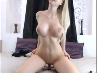 Blonde Milf Dildo Fucking On Public Webcam