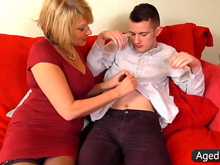 Hot Blond Milf Amy Banging On The Couch