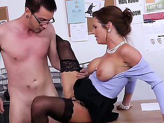 Business woman Veronica Avluv is a boss of local company. Dane Cross is her new office worker and...