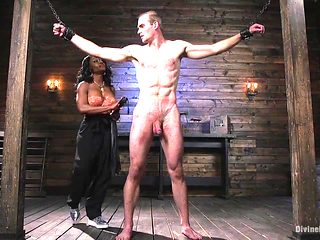 Ebony Dominatrix Punishes Her Sub With Pegging