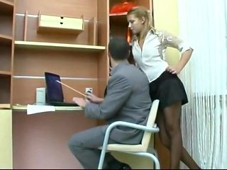 junior Secretary Takes It In The Ass