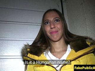 Pulled Hungarian Amateur Sprayed Cumonass