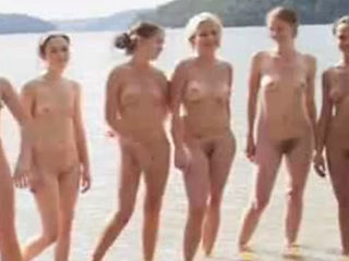 Nudist Girls Filmed At The Beach
