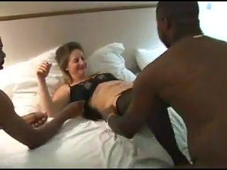 Curvy mature wife gangbanged