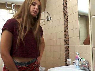 Ayla pissing college girl