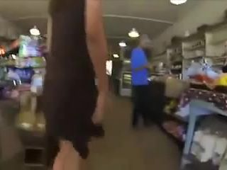 daring girl at store