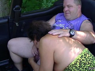 German MILF Mom Seduce to Fuck Outdoor by Stranger