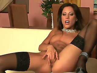 Lovely babe Anita Pearl enjoys a good pussy fingering while slowly rubbing and feeling her sexy t...