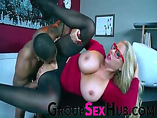 mother I'd like to fuck Getting Screwed by BBC in Her Office fearsome-fearsome Free Porn On Group...