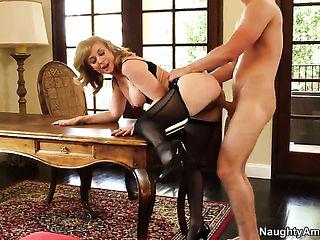Danny Wylde seduces Nina Hartley into fucking