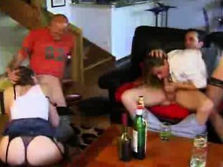 2 french swingers couples fucking
