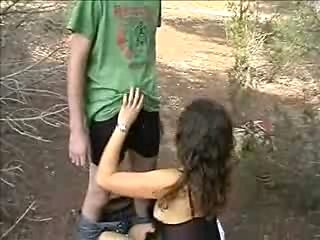 Young Swinger Couple Meet The Big Cock Stud In The Forest