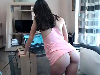 Stockings sexy ass babe foot fucks