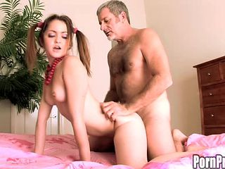 Skinny filly Jewel Bancroft rides on top of a throbbing boner
