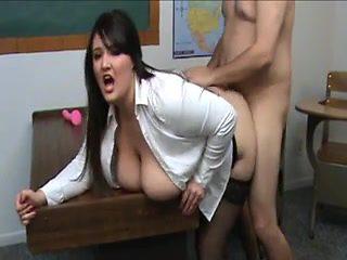 BBW teacher wants cock after class