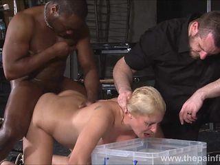 Rough interracial hardcore sex