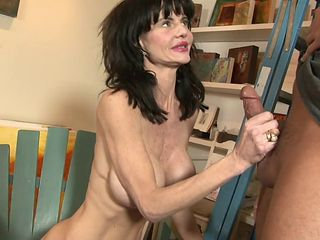 Skinny milf with sexy fake titties fucked in her wet pussy